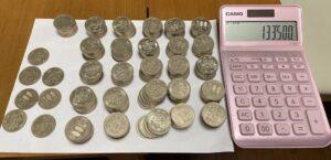 500円玉貯金の結果